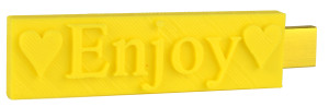 Sunny yellow flash drive gift