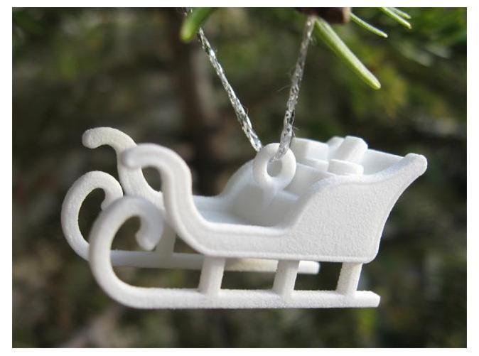 xmas 3d printed ornament