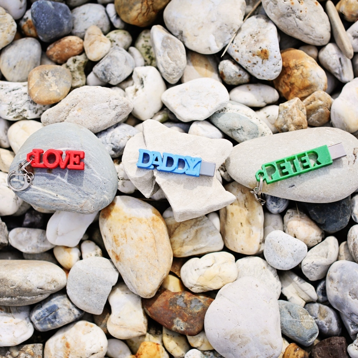 personalised usb cases on stones